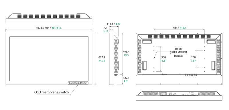 FSN FSL4202D Surgical Monitor Specs