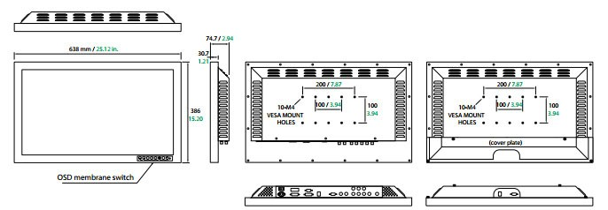 FSN 2602D 26inch Surgical Monitor Technical Specifications
