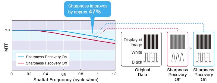 Eizo Radiforce RX250 Sharpness Recovery